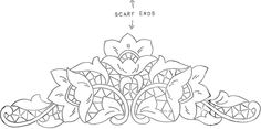 another gorgeous #cutwork #corner #pattern. Use a light colored base and embroider with a dark shade of the same color...the result is beautiful.