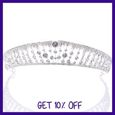 Remedios Pageant Princess Headband Wedding Crown Tiara Headpiece w Rhinestone