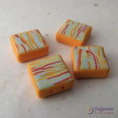 Polymer clay beads by Cate van Alphen #2015PCchallenge