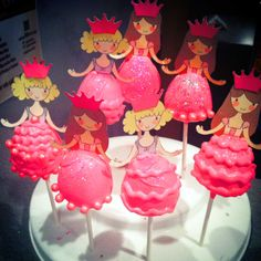 Princess Paper Doll Cake Pops. The dresses are the cake pops, made from a brownie pop mold!