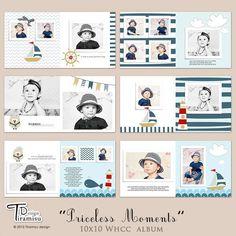 Baby Album Templates Baby Photobook Templates for Photoshop Kids Photo Album, Photo Album Book, Family Yearbook, Baby Photo Books, Capas Dvd, Buch Design, Diy Bebe, Foto Baby, Photo Layouts
