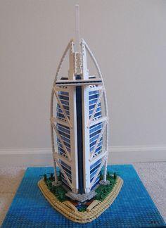 Burj Al Arab, Lego Architecture, Lego Creations, Hanging Chair, Dubai, Furniture, Home Decor, Decoration Home, Hanging Chair Stand