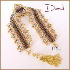 Dandi Bracelet - French website - Beaded Bracelet - Free Pattern from Beads Magic Link
