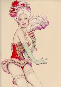 Hmmm...inspiration for my (potential) can-can dancer tattoo