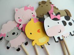READY TO SHIP Girl Barnyard Table Decorations, Barnyard Centerpiece