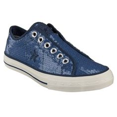 Have them - Converse One Star Sequin Laceless Oxfords: Ice is melting and sun is shining, time to splash in puddles!