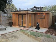 L-shape garden room # backyard shed Shed Office, Backyard Office, Backyard Studio, Backyard Sheds, Garden Office, Shed Cabin, Garden Cabins, Diy Storage Shed, Outdoor Storage