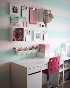 Ikea kids bedroom storage ideas bedroom ideas image of kids bedroom Cool Room Decor, Cute Bedroom Decor, Study Room Decor, Cute Bedroom Ideas, Girl Bedroom Designs, Cool Girl Rooms, Green Girls Rooms, Ikea Kitchen Storage, Home Room Design