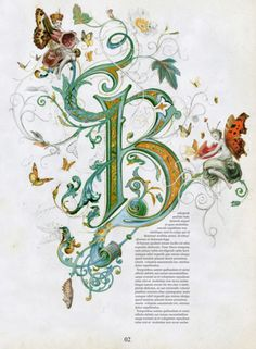 Illuminated letter BYou can find Illuminated letters and more on our website.Illuminated letter B Calligraphy Letters, Typography Letters, Caligraphy, Flourish Calligraphy, Illuminated Letters, Illuminated Manuscript, Creative Lettering, Hand Lettering, Illumination Art
