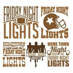 (FREE Daily Cut File) Friday Night Lights Football -Available today only Sept 12