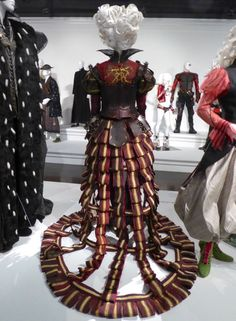 Red Queen costume train Alice Through the Looking Glass