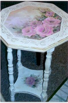 Shabby Chic Painted Furniture Roses