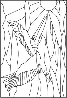 ART:ERY Stained Glass Pattern Co-Op ::: Pelican flying