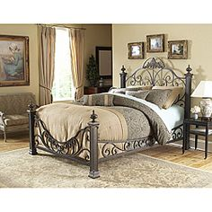 baroque king size bed by fashion bed group - King Size Iron Bed Frame