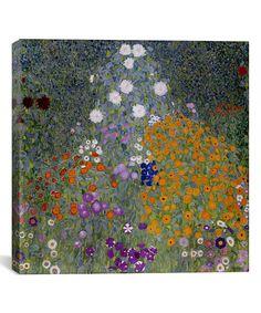 Klimt Bauerngarten (Flower Garden) Replica Canvas Print | zulily