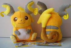 Raichu plushie (doesn't have to be exact just cute & huggable)