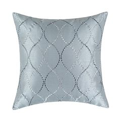 "Euphoria Contempo Decorative Throw Pillow Cushion Covers Pillowcase Shell Faux Silk Gray Waves Embroidery 18"" X 18"" Euphoria http://www.amazon.com/dp/B00RMMHY1C/ref=cm_sw_r_pi_dp_8SL2ub1Y3K7YM"
