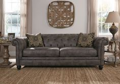 Make your sofa buying decision easier with this sofa design guide, which covers everything from the types of sofas available to fabrics & size options. Ashley Furniture Outlet, Home And Living, Sofa, Furniture, Home Living Room, Ashley Furniture Homestore, Home Furniture, Couch And Loveseat, Room