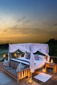 Romantic outdoors, Lion Sands, Kruger National Park, South Africa
