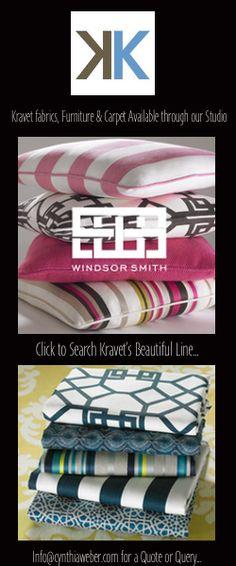 Kravet fabrics available through Cynthiaweber.com