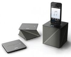 origami cube speaker folds flat