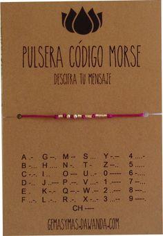 """^^Esta oferta es por una pulsera^^ *PULSERA CÓDIGO MORSE """"TE AMO""""* La pulsera *puede personalizarse con cualquier otro mensaje, hasta un máximo de 7 letras:* Una fecha, un nombre,..."""