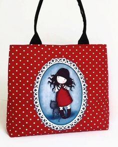 Gorjuss Bag Handmade Shoulder Tote Bag by MyCottonHouse on Etsy