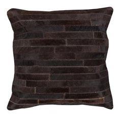 Ewing Rustic Lodge Tile Hair on Hide Pillow. #kathykuohome