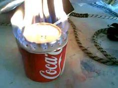 Como hacer fogon de cocina con dos latas de refresco