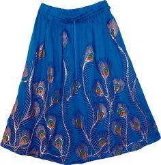 Endeavour Short Sequin Peacock Skirt
