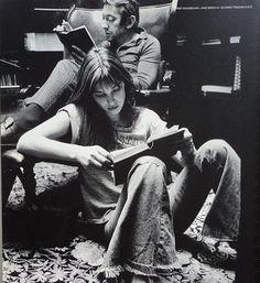 Jane Birking 1960, behind her Serge Gainsbourg