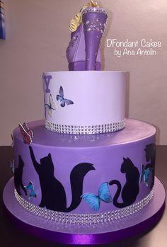 Tarta de fondant zapato y gatos. DFondant Cakes
