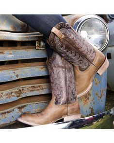 NEW:  Ariat Cowgirl Boots  http://www.countryoutfitter.com/products/54477-womens-good-times-boot-gunsmoke-matte-chocolate-cr/?lhb=style&lhs=p
