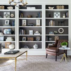 Living Room Layout Ideas: 5 Ways to Create Practical Space Floor To Ceiling Bookshelves, Wall Bookshelves, Built In Bookcase, Decorating Bookshelves, Build In Bookshelves, Unique Bookshelves, Ikea Billy Bookcase, Library Shelves, Library Wall
