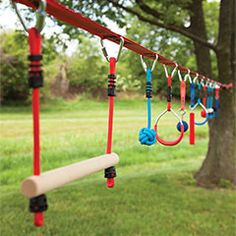 Pro & Intro Combo Kit with 10 Obstacles and thousands more of the very best toys at Fat Brain Toys. This backyard hanging obstacle course kit, featuring a variety of multi-skill-level obstacles, allows. Kids Outdoor Play, Kids Play Area, Outdoor Fun, Diy Outdoor Toys, Outdoor Yard Games, Outdoor Learning Spaces, Outdoor Play Areas, Outdoor Stuff, Backyard Obstacle Course