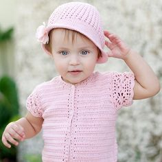 Baby girl crochet romper suit with matching hat – ukookoo