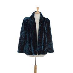 Sasson Indigo Fur Coat $50.00 stacksonracks.com