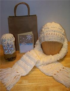 With Glittering Eyes: Naturally Warm and Cozy Gift Set  Loom knit patterns