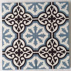 Saint maclou sol vinyle emotion carreau ciment bleu rouleau 4 m les sols aspect carreaux - Saint maclou tegelcement ...
