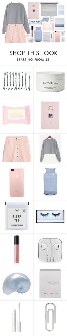 """""""Even After A While"""" by kate-kat-kit ❤ liked on Polyvore featuring BOBBY, Byredo, Forever 21, ASOS, H&M, Sur La Table, Huda Beauty, Bare Escentuals, Ex Voto Paris and tarte"""