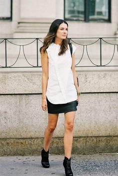 Interesting blouse design worn by StyleBop.com Fashion Director Leila Yavari