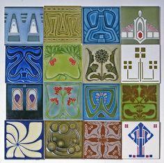 Otto Eckmann, tiles, Villeroy & Boch, 1900