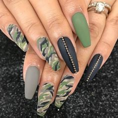 Elegant Nail Design Manicure in Military Style Ideas Photo New 2018