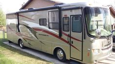 """2008 Used Holiday Rambler Vacationer 34PDD Class A in North Dakota ND.Recreational Vehicle, rv, 2008 Holiday Rambler Vacationer 34PDD, 2008 Holiday Rambler Vactioner Xl 34pdd. 34 Foot diesel pusher with a 340 hp cummins engine. Excellent shape only 12100 miles on it. 2 slides leveling jacks,sleeps 6 people. Fiberglass body with clear mask on front. Queen Air bed sleeper in front upgraded gel camper queen mattress in back, dinette both folds into 3rd bed. Home Theater surround system with 26""""…"""