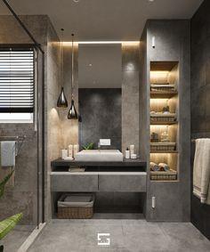 Washroom Design, Bathroom Design Luxury, Modern Bedroom Design, Bathroom Design Small, Home Room Design, City Bathrooms, Dream Bathrooms, Small Attic Bathroom, Wc Design
