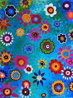 Mexican Fabric, Mexican Folk Art, Cheap Interior Wall Paneling, Interior Design Instagram, Mexican Paintings, Art Restaurant, Folk Art Flowers, Scandinavian Interior Design, Popular Art