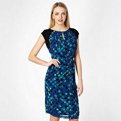 Jonathan Saunders/EDITION Designer blue spotted printed day dress- at Debenhams.com
