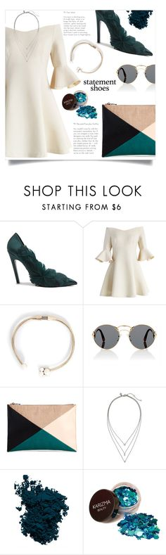 """statement shoes"" by nabilazfr ❤ liked on Polyvore featuring Balenciaga, Chicwish, Prada, Sole Society, Banana Republic, Laura Mercier, contest and statementshoes"