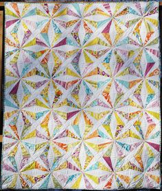 Ahhh...Quilting: February 2012.  Central Park Kaleidoscope variation.  AKA Endless Chain.  Free pattern at http://www.craftsy.com/pattern/quilting/home-decor/kaleidoscope-quilt-pattern/90932