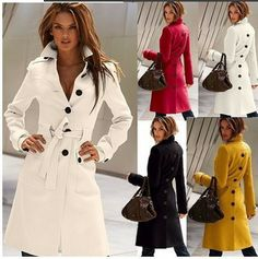 2014 New After Split Turn-down Collar Slim Long Wool Blend Coat For Women,Winter Jackets Women's Clothing S/M/L/XL $29.50